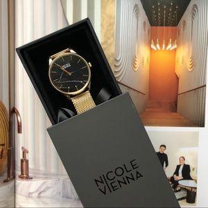 Nicole Vienna Gold Black Marble Soir no79 Watch